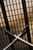 Katana e wakizashi com despido Fotografia de Stock Royalty Free
