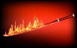 Free Katana Flaming Sword 2 Stock Photos - 141836993