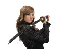 Katana Girl Stock Photos