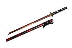 Katana Japanese svärd och slida Royaltyfria Foton