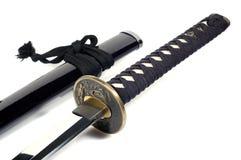 Katana - japanskt svärd (7) royaltyfri bild