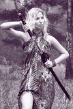katana kordzika kobieta fotografia royalty free