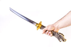 Katana on a Stand Royalty Free Stock Images