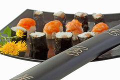 Katana and sushi Stock Photos