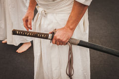 Katana sword at Orient Festival in Milan, Italy Royalty Free Stock Image