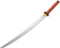 Katana. Vector illustration of katana sword Stock Image