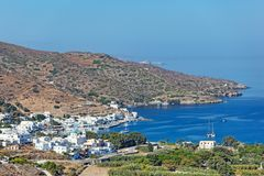 Katapola Amorgos, Греции Стоковое фото RF