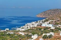 Katapola Amorgos, Греции Стоковые Фото