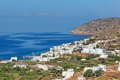 Katapola de Amorgos, Grecia Fotos de archivo