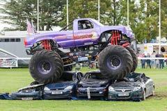 Katapult för gigantisk lastbil på Truckfest Norwich UK 2017 Arkivbild