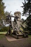 Katapult in Warwick Castle Royalty-vrije Stock Afbeelding