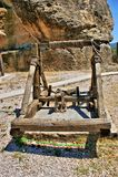 Katapultieren Sie eine alte Waffe Stockfoto