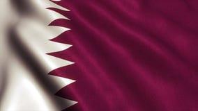 Katar flaga materiał filmowy - 4K