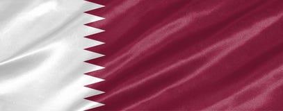Katar-Flagge lizenzfreie abbildung