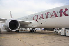 Katar-Fluglinienjet stockfotografie