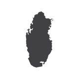 Katar-Kartenschattenbild Stockfotos