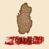 Katar martwił mapę Zdjęcia Royalty Free