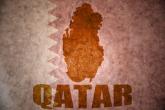 Katar-Weinlesekarte lizenzfreies stockbild