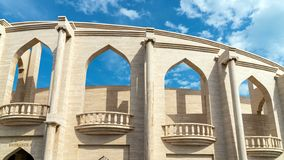 Katara Cultural village multi purpose hall Amphitheater, Doha, Qatar. Doha,Qatar- January 2019: Katara Cultural village multi purpose hall Amphitheater stock images