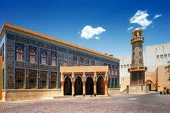 Katara is een cultureel dorp in Doha, Qatar stock afbeeldingen