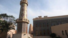 Katara Village Minaret. Historic Minaret in Katara. Katara is a cultural village also named valley of cultures in Doha, West Bay, Qatar. Middle East, Arabian stock video