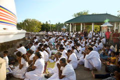 KATARAGAMA, SRI LANKA - 5. MAI: Saga Dawa-Festival zum celebrat stockbilder