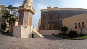 Kataramoskee en Minaret stock videobeelden