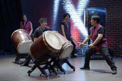 Katari Taiko, Canada's first taiko group Royalty Free Stock Photo