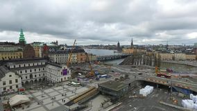 从Katarina电梯的斯德哥尔摩广场 股票录像