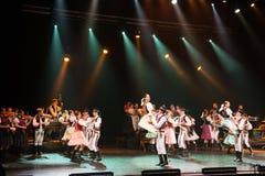 Katarina Knechtova with folklore ensemble Sarisan on tour Puto 2018 stock photo