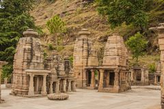 Katarmal太阳寺庙,在阿尔莫拉附近 免版税库存图片