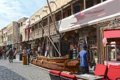 Katarski Doha bazaru język arabski, styl, ulica, podróż, Obraz Stock