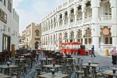 Katarski Doha bazaru język arabski, styl, ulica, podróż, Zdjęcie Stock
