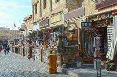 Katarski Doha bazaru język arabski, styl, ulica, podróż, Obraz Royalty Free