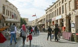 Katarski Doha bazaru język arabski, styl, ulica, podróż, Zdjęcia Stock
