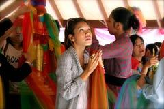 Katas  offerings at Lak Mueang - Bangkok Royalty Free Stock Photography