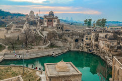 Katas Raj Temples Pakistan. Katas Raj Temples are among the most famous temples located in Chakwal region of Pakistan royalty free stock images