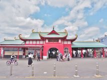 Katase-Enoshima Station, Kanagawa, Japan. Stock Photos