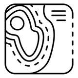 Katasterkartenikone, Entwurfsart stock abbildung
