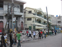 katastrof haiti Arkivbilder