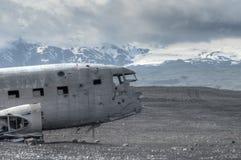 Katastrof Samolotu ruiny, SÃ ³ lheimasandur - Iceland zdjęcia stock