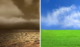 katastrofa ekologiczna obraz royalty free