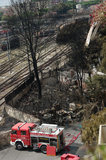 katastrofy Italy taborowy viareggio Fotografia Royalty Free
