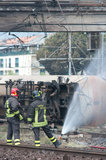 katastrofy Italy taborowy viareggio Zdjęcia Stock