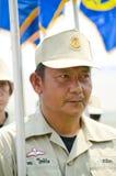 katastrofy marszowy mężczyzna Thailand wolontariusz Fotografia Royalty Free