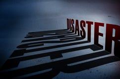 Katastrofy pojęcie Fotografia Stock