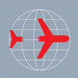Katastrofy samolotu Obrazy Royalty Free