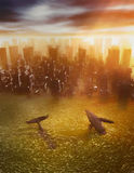 Katastrophaler Klimawandel Stockfotografie