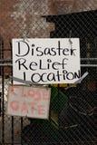 Katastrophenhilfe-Zeichen Lizenzfreies Stockbild