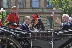 Kate,加拿大日王子威廉和 免版税库存照片